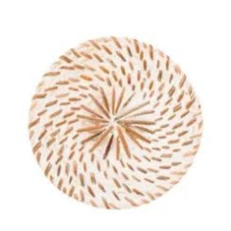 Poppy + Sage White Rattan Coaster (Set of 6)