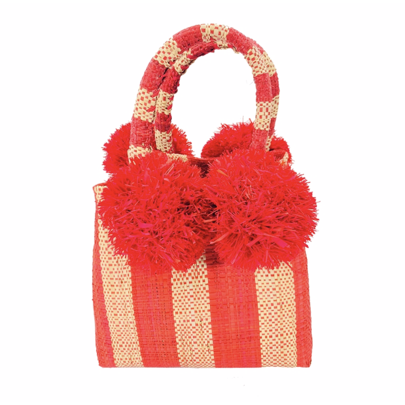 Shebobo Schooner Straw Mini Bag Red Stripe