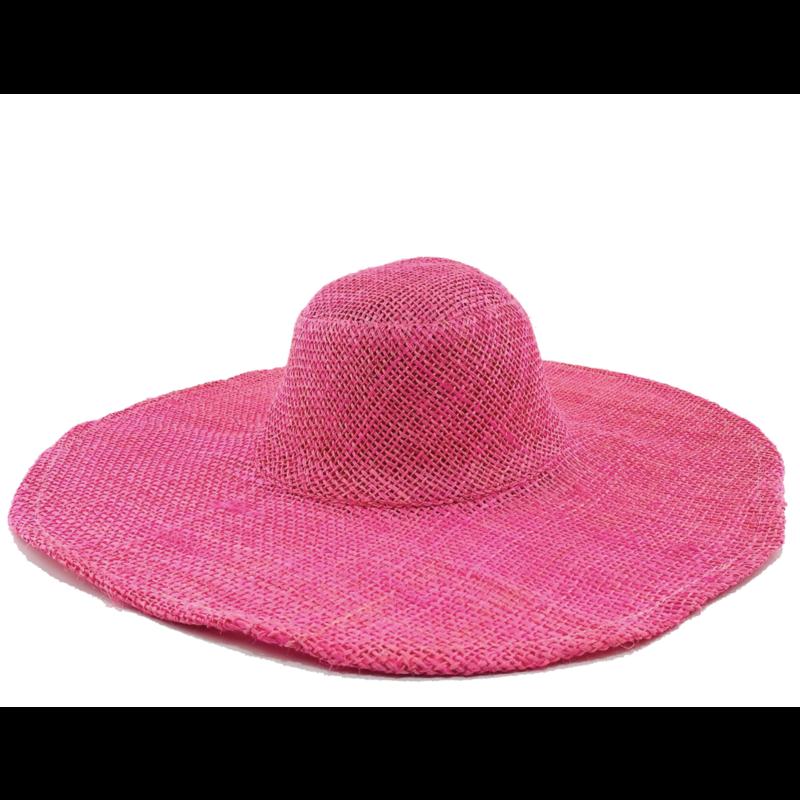 Shebobo Betty Sisal Sun Hat- Pink
