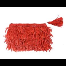 Shebobo Frou Frou Fringe Clutch- Coral