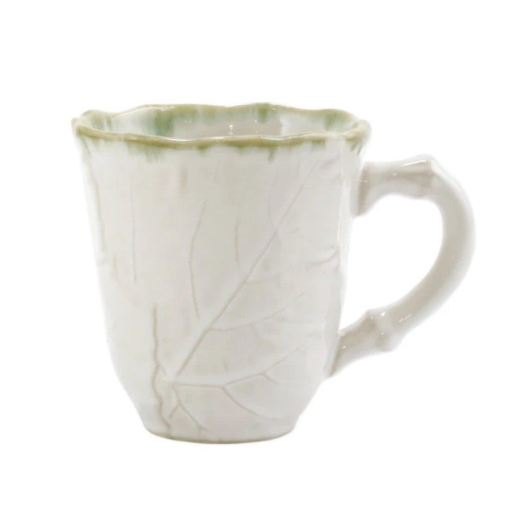 Vietri Foglia Stone White Mug