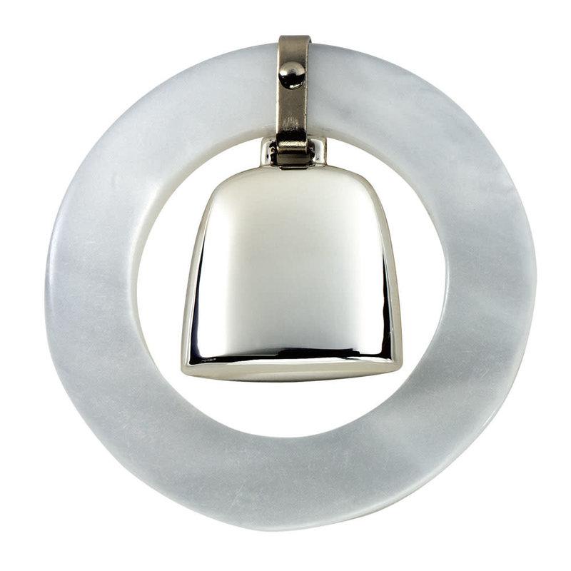 Salisbury Sterling Teething Ring Rattle White