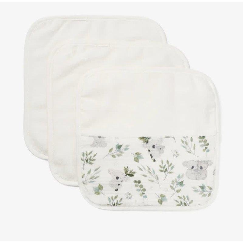 Elegant Baby Organic Washcloths Koala Print