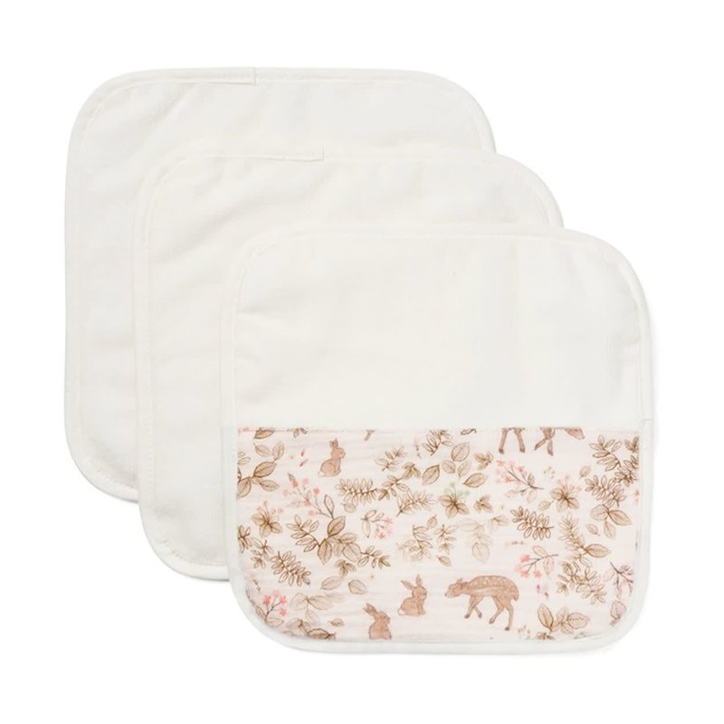 Elegant Baby Organic Washcloths Bunny Print