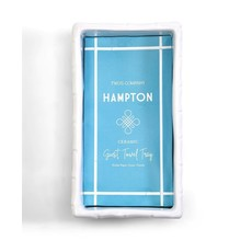 Two's Company Hampton Faux Bamboo Ceramic Guest Towel Tray