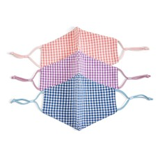 Two's Company Gingham Face Mask