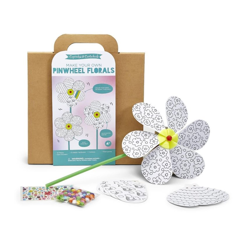 Two's Company Make Your Own Flower Pinwheel Kit
