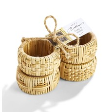 Two's Company Cane Napkin Rings- Set of 4