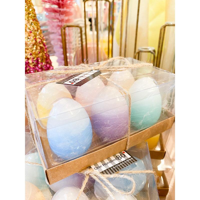 One Hundred 80 Degrees Boxed Easter Egg Candles Set/6