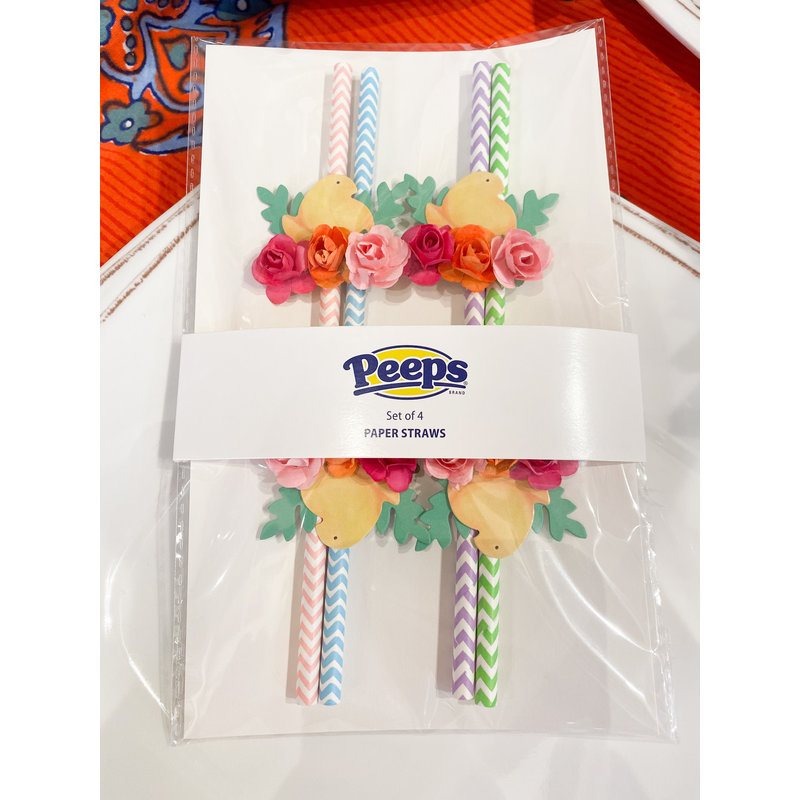 One Hundred 80 Degrees Peeps Paper Party Straws- Set/4