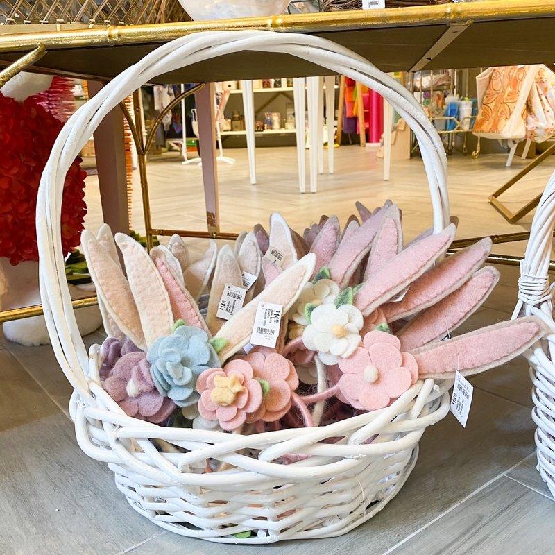Willow Large White Round Basket