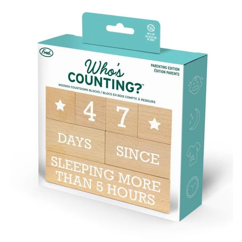 Fred & Friends Who's Counting? Parenting Count Down Blocks