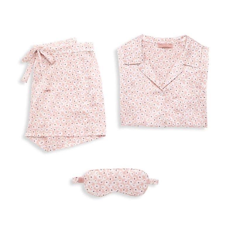 Barefoot Dreams Barefoot Floral Print Satin Pajamas Set L