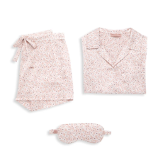 Barefoot Dreams Barefoot Floral Print Satin Pajamas Set S
