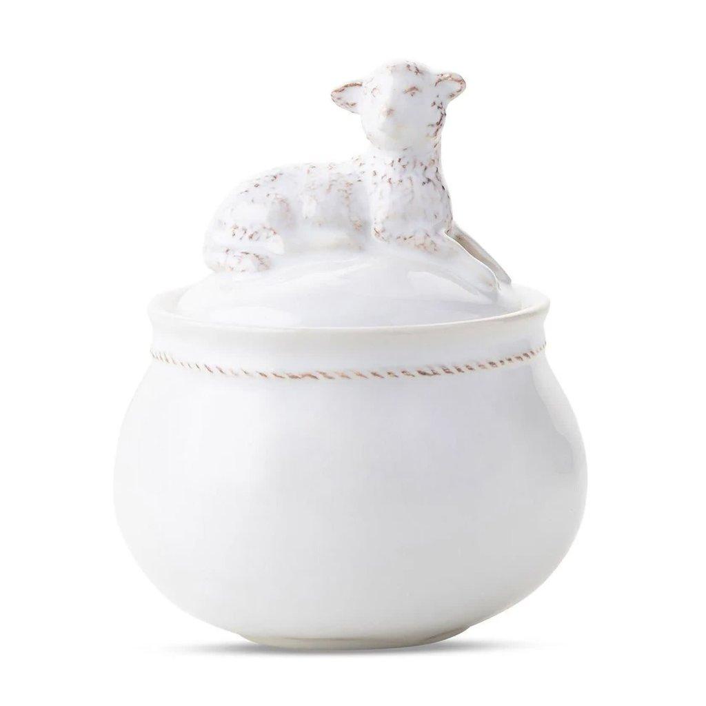 Juliska Henri Lidded Lamb Jar Whitewash