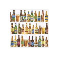 Caspari 99 Bottles Cocktail Napkin