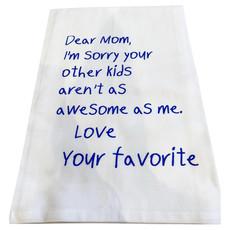 Monique Perry Mom's Favorite Tea Towel- Blue Ink