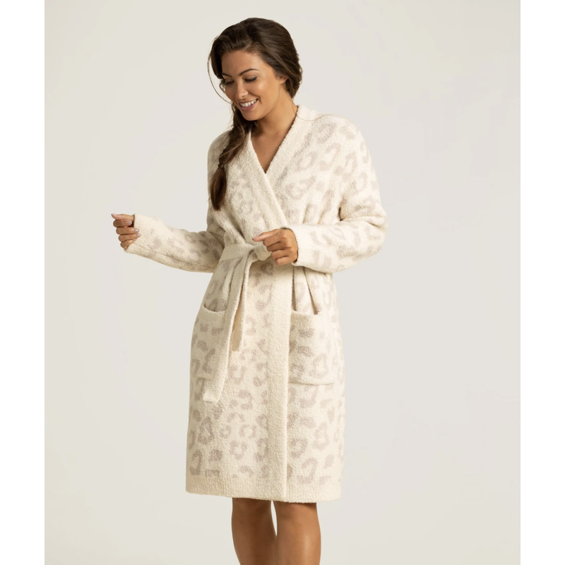 Barefoot Dreams Barefoot In The Wild Robe Cream/Stone