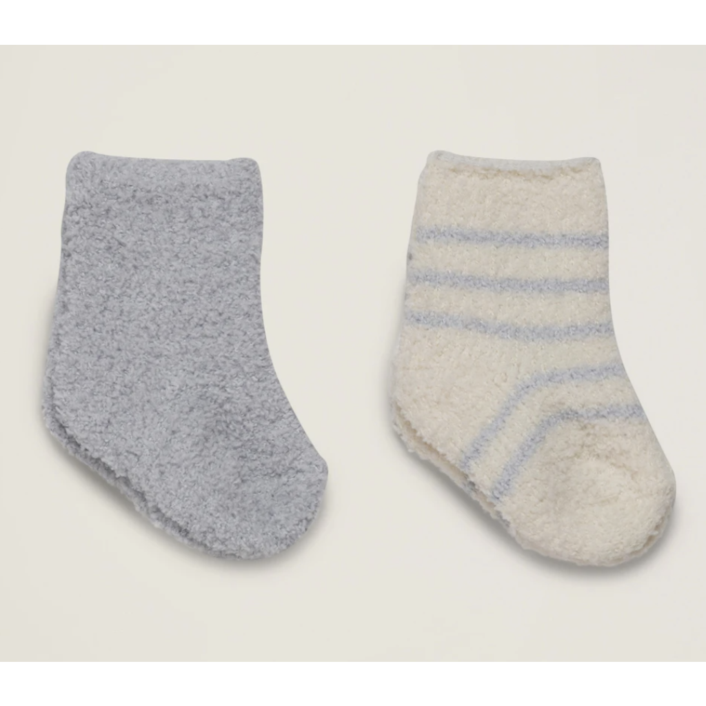 Barefoot Dreams Cozy Chic 2 Pair Infant Socks
