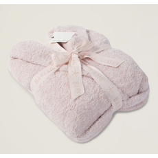 Barefoot Dreams Cozy Chic Heathered Robe Dusty Rose/White