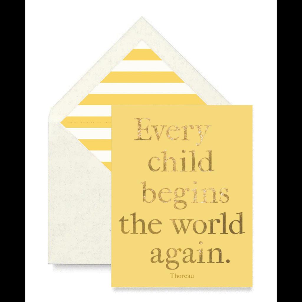 Ben's Garden Every Child Begins the World Again Card