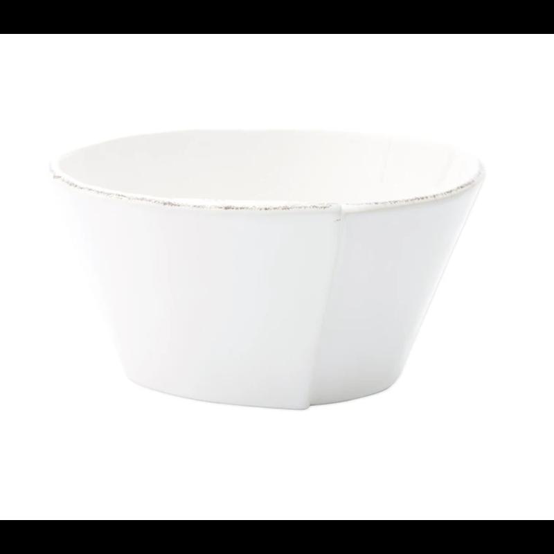 Vietri Melamine Lastra White Stacking Cereal Bowl