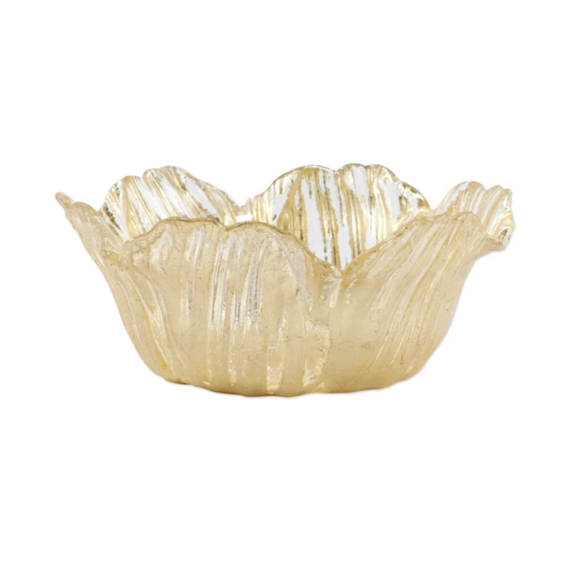 Vietri Rufolo Glass Gold Flower Small Bowl