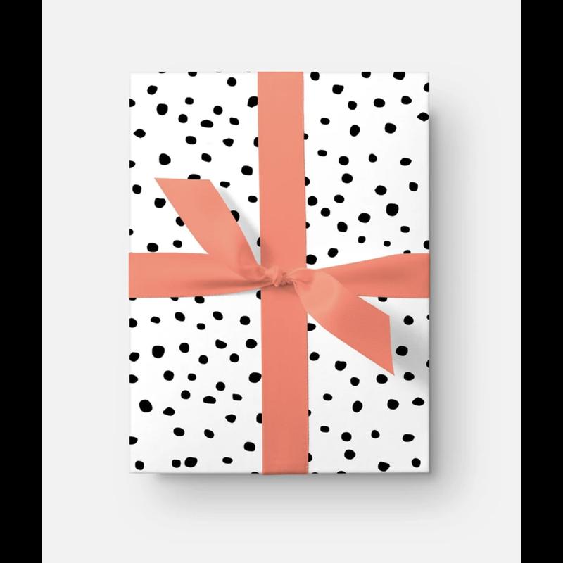 Katie Kime Seeing Spots Black Gift Wrap