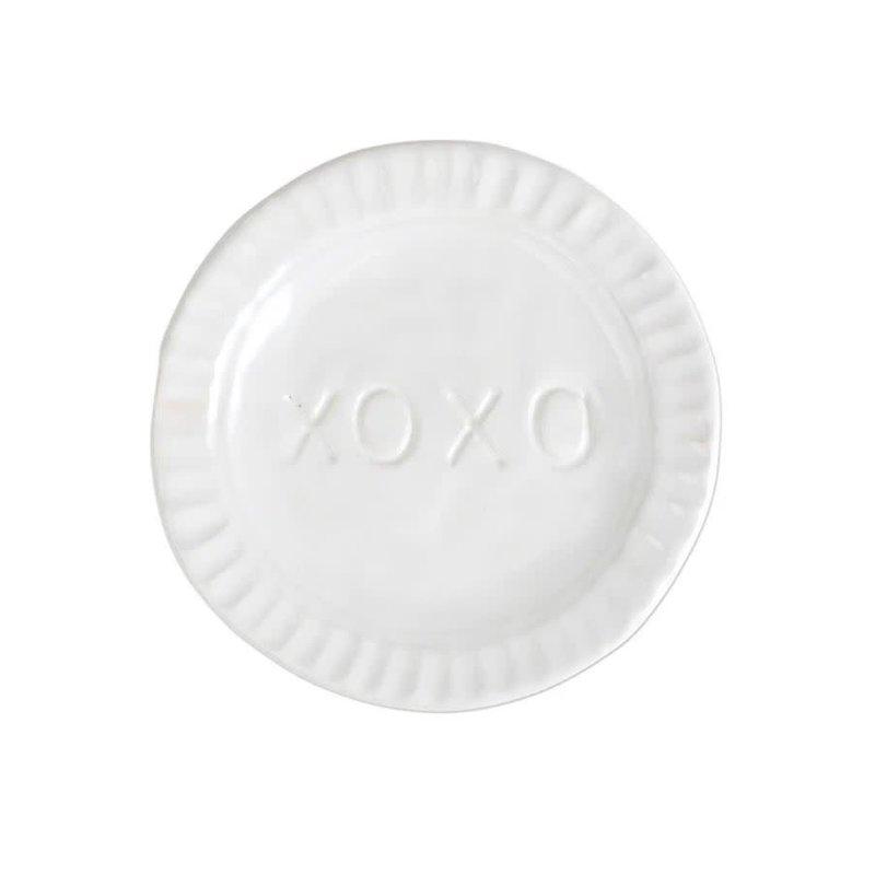 Vietri Pietra Serena XOXO Plate