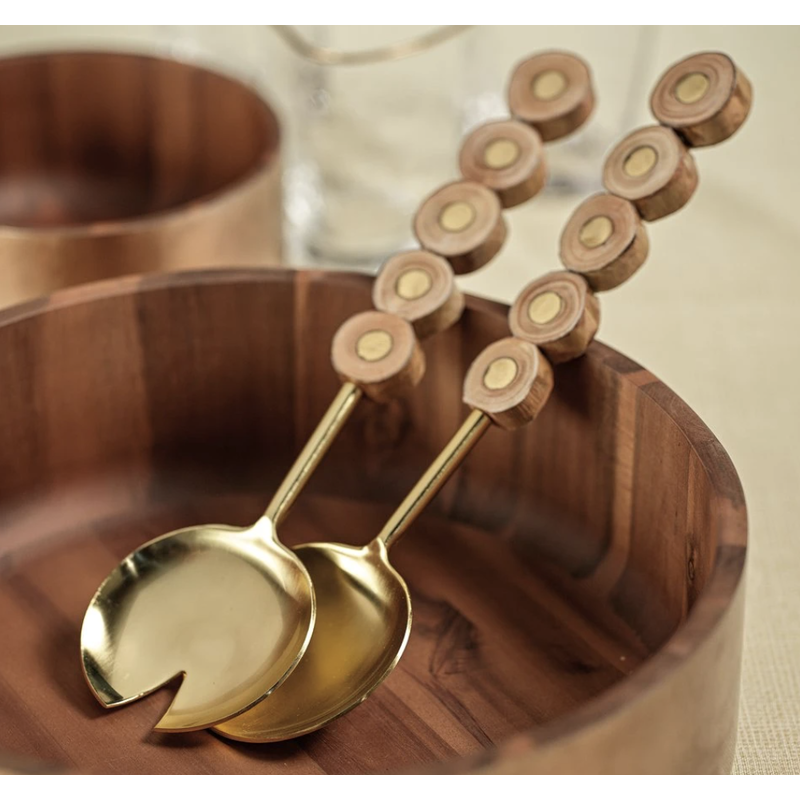 Zodax South Bay Metal and Wood Server Set