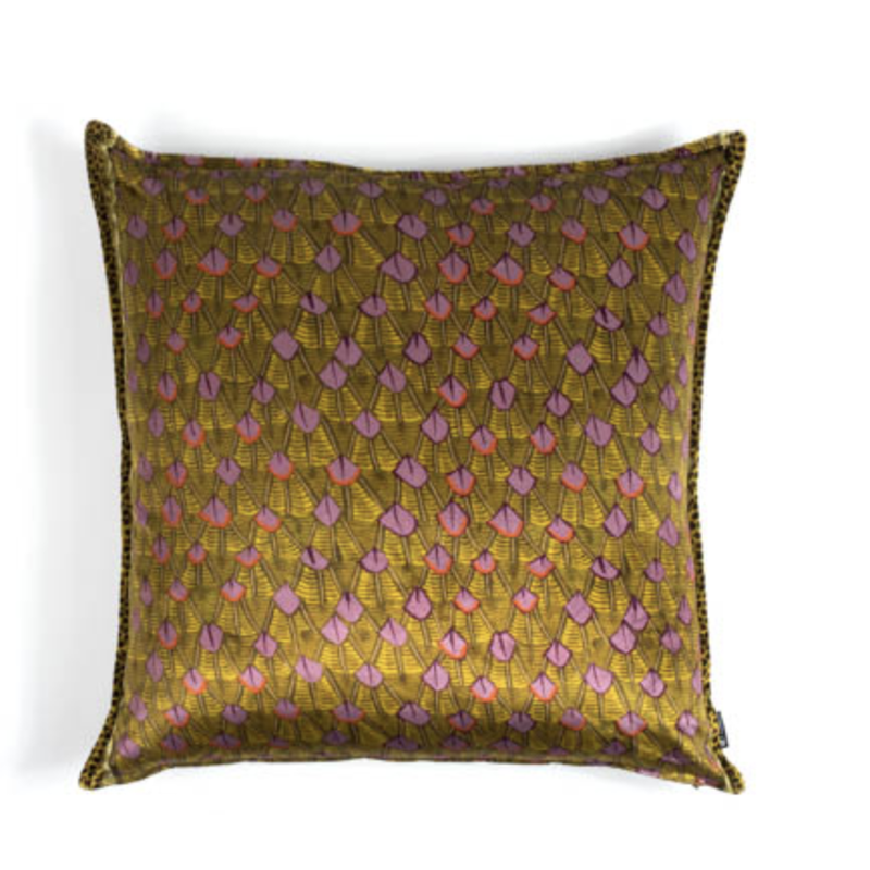 Ngala Trading Zambezi Pillow Covers Feather Chartreuse