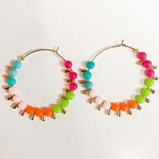 Laura McClendon Colorful Beaded Hoop