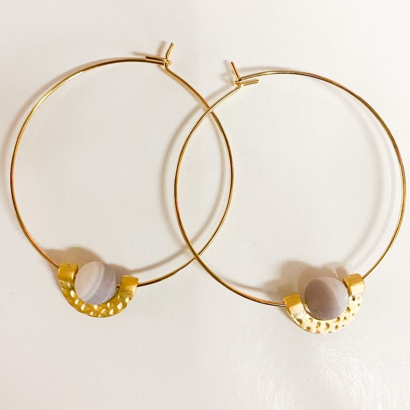 Laura McClendon Gold Circle Ear with Amazonite