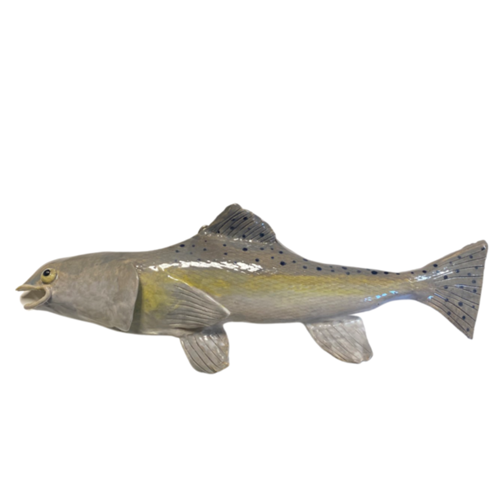 A Fishy Business Ceramic Hand Made Trout by Suzy Friedrichs