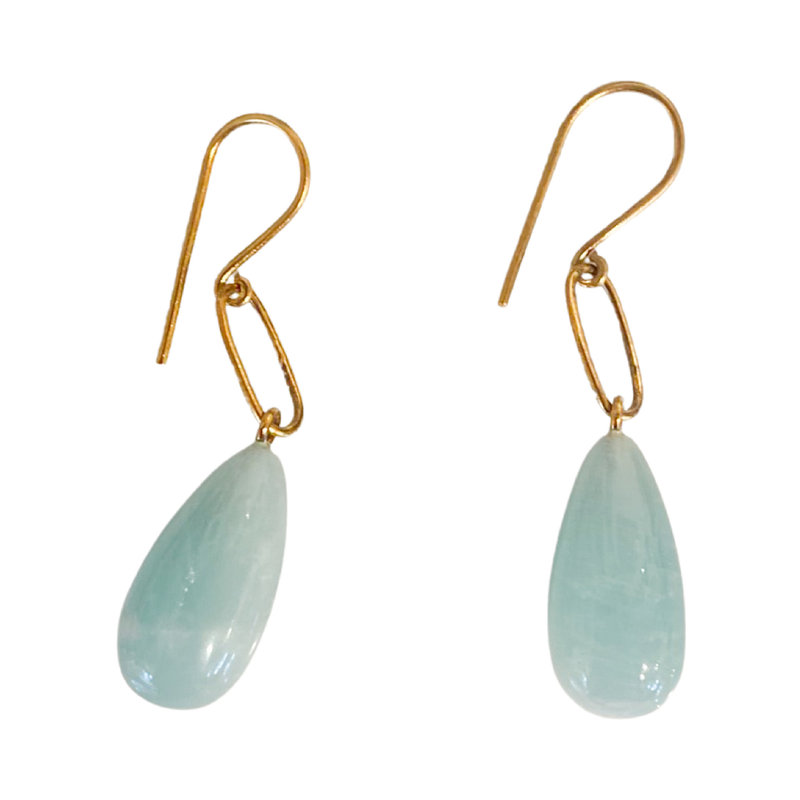 Benazir Collection Liza Earrings in Amazonite