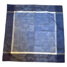 Garnier Thiebaut Garnier Thiebaut Blue Square Table Cloth