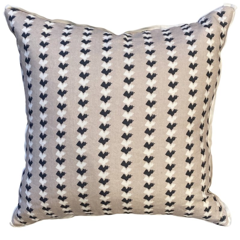 Honey and Hank Louisiana Stripe Square Pillow