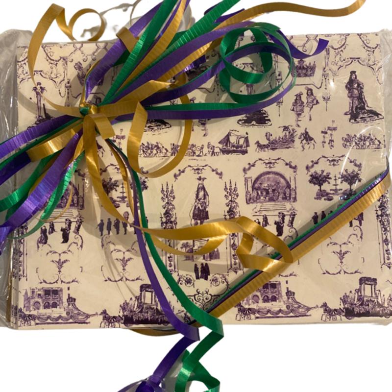 Jennifer Grehan Mardi Gras Toile Cards Set of 10