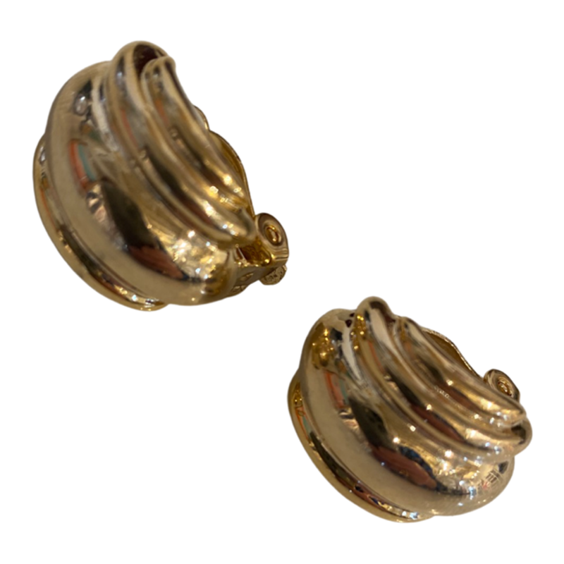 Lordane Gold Puff Earrings 83E7095