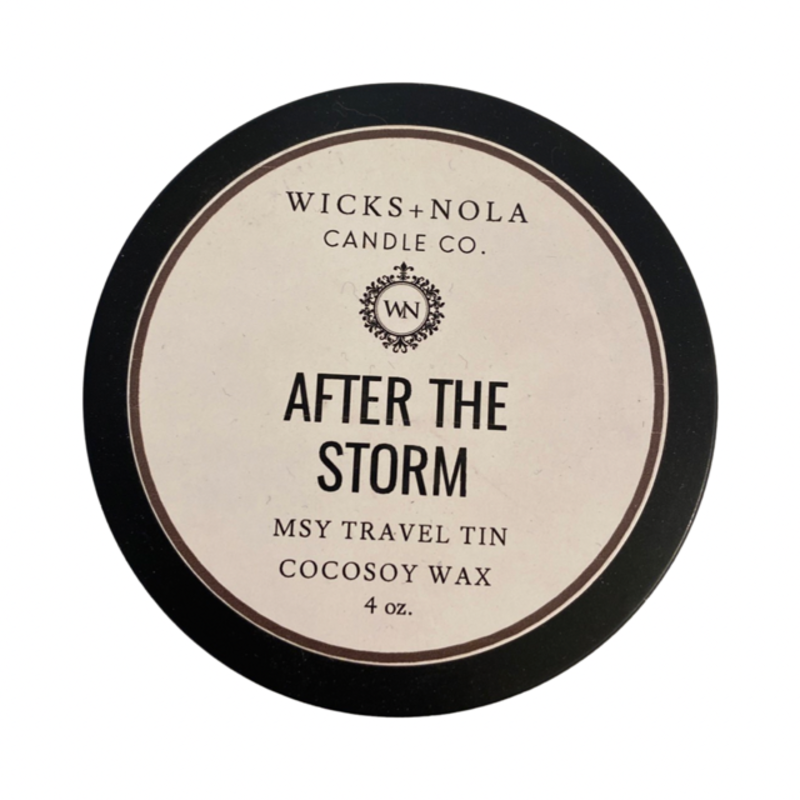 Wicks + Nola Candle Co. MSY Tin After the Storm Candle