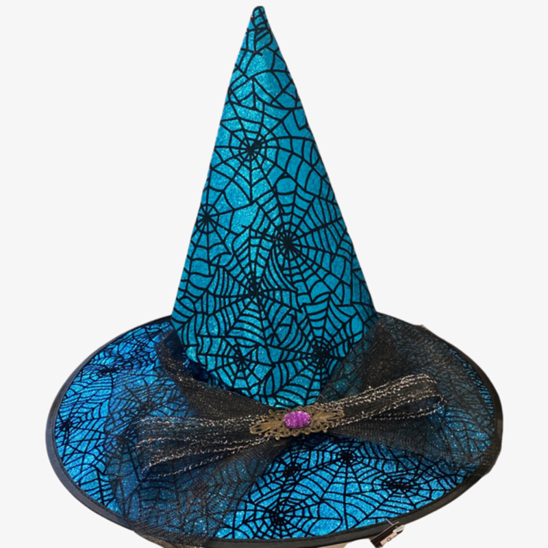 One Hundred 80 Degrees Spider Web Witch Hat