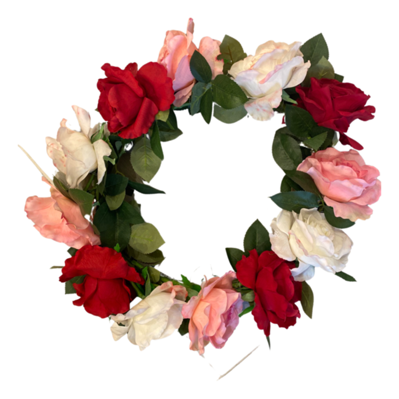 Two's Company Real Touch Rose Wreath