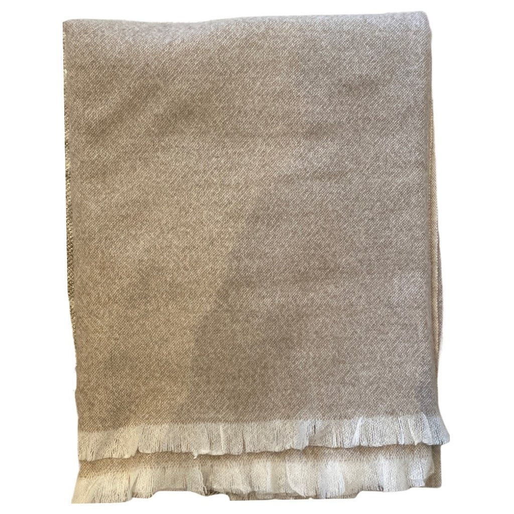 Silk Story Cashmere Blanket- Heather Tan
