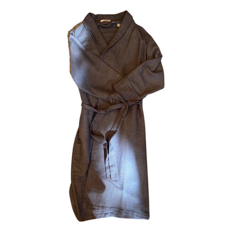 Silk Story Charcoal Robe M