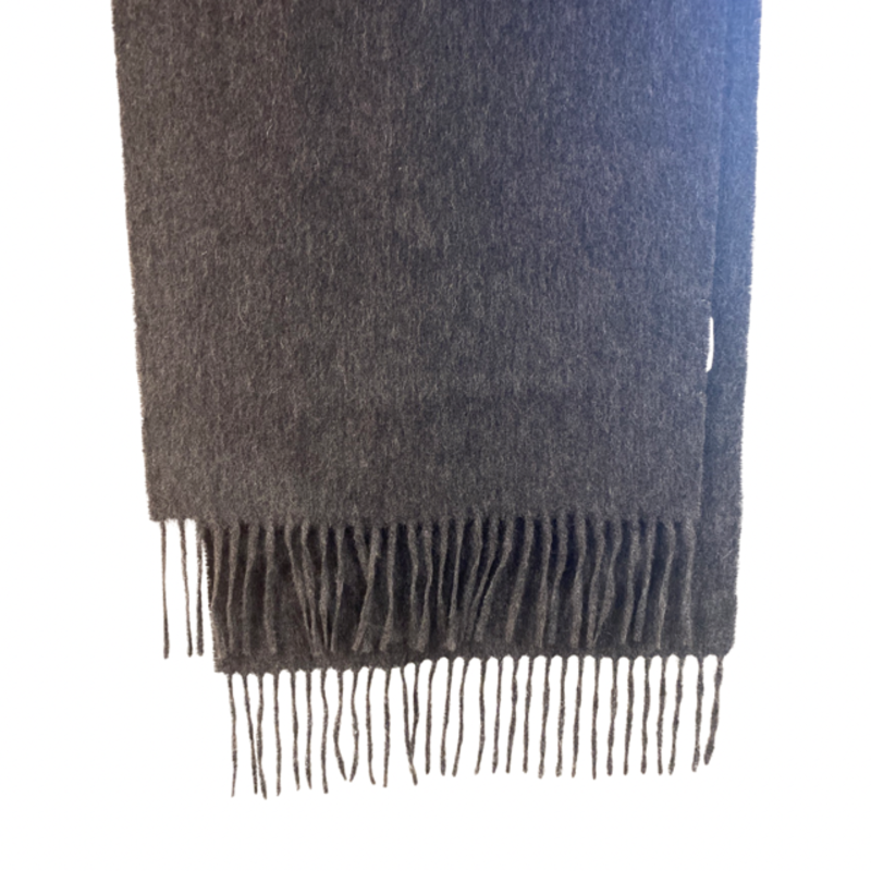Silk Story Cashmere Scarf- charcoal