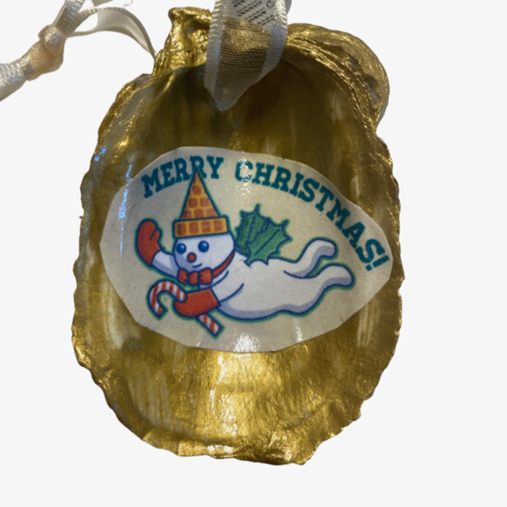 Nancy Blouin Mr. Bingle Decoupage Oyster Ornament