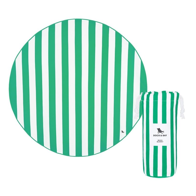 Dock & Bay Cancun Green Quick Dry Beach Blanket