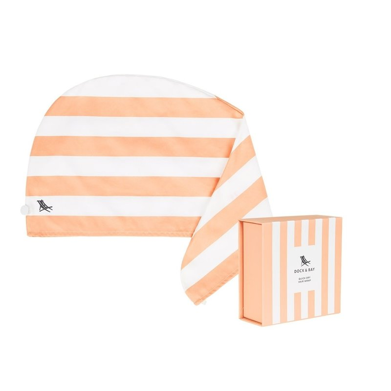 Dock & Bay Positano Peach Quick Dry Hair Wrap