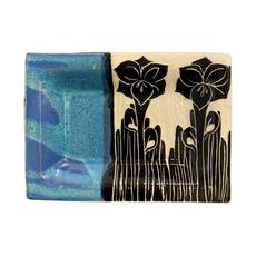 Rachael DePauw Flower Rectangular Serving Platter (small)