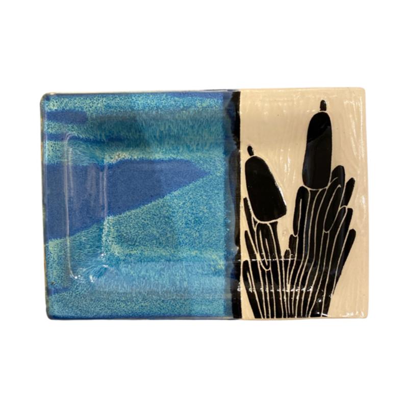 Rachael DePauw Cattail Rectangular Serving Platter (small)